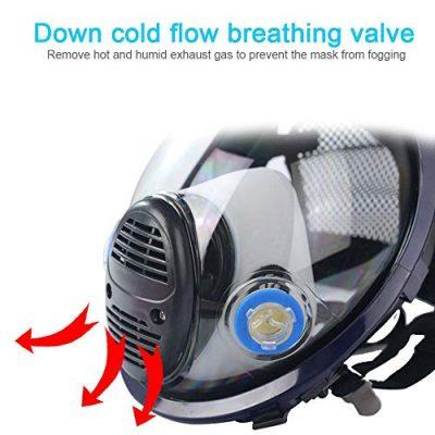 Umiwe-respiratore-Pieno-facciale-Maschera-Antigas-Respiratore-con-Protezione-per-Visiera-Cotone-filtrante-Respiratore-di-Sicurezza-Professionale-per-Vernice-Polvere-Prodotti-Chimici-0-2